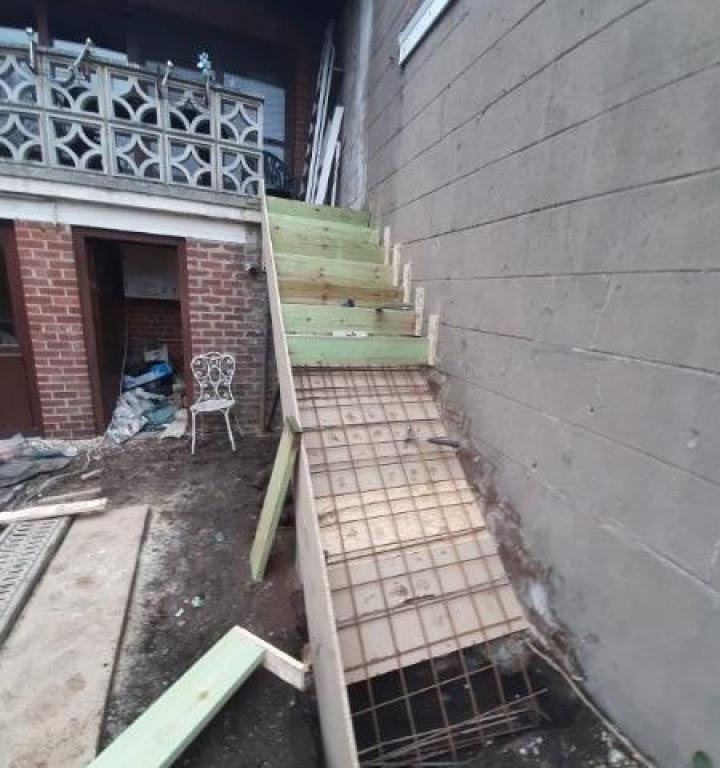 Réalisation d'un escalier en béton